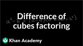 Difference of Cubes Factoring