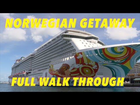 Norwegian Getaway Review – Full Walkthrough – Ship Tour