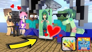 Monster School : DRAWING WITH SHARK CHALLENGE - Minecraft Animation