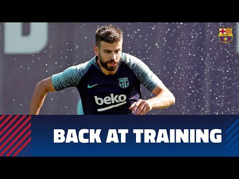 Back at training ahead of Real Sociedad trip