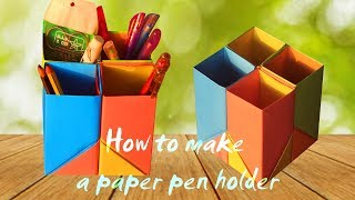 DIY- How To Make Pen Stand || Hexagonal Pen || Pencil Holder || Desk Organiser From Paper |