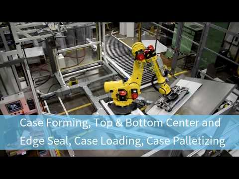 Case Form, Pack, Edge Seal and Palletize Mattresses