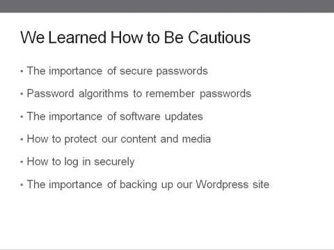 Learn Complete Wordpress Security - Chapter 20 - Summary
