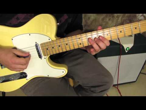 Blues guitar lesson - with a yellow telecaster