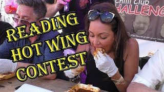Extreme Hot Wing Eating Contest held at the Reading Chilli Festival