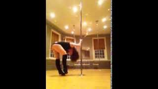 """Skin"" by Rihanna beginner pole dance routine"