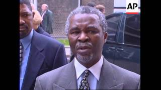 UK: LONDON: SOUTH AFRICAN DEPUTY PRESIDENT THABO MBEKI VISIT
