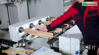 MÁY CNC TRUNG TÂM WOODMASTER 4 Trục 16 Dao 2 Bàn Nạp phôi cực hiệu quả