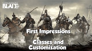 Conqueror's Blade Classes and Customization Review