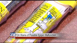 FDA Warns of Possible EpiPen Malfunction
