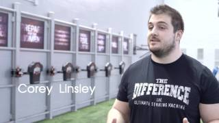 Green Bay Packers Center Corey Linsley and The Difference Striking Machine