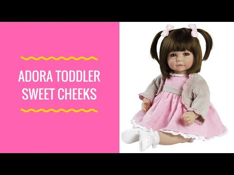 """Adora Toddler Sweet Cheeks 20"""" Girl Weighted Doll Gift Set for Children"""