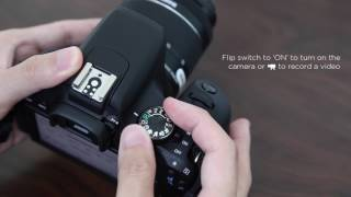 Basic setup tutorial of your first DSLR: Canon EOS 800D