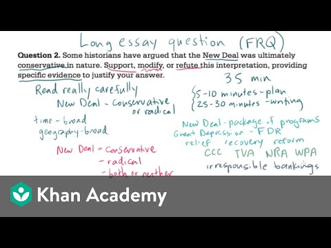AP US History long essay example 1 (video) Khan Academy
