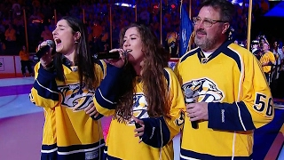 Nashville Hyped Up As <b>Vince Gill</b> & His Daughters Sing National Anthem