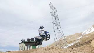 Fpv drone chases motocross.(!big whips!)