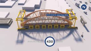 New Light Rail Bridge Lifted Into Place
