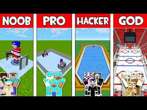 Minecraft NOOB vs PRO vs HACKER vs GOD: FAMILY HOCKEY ARENA in Minecraft Animation