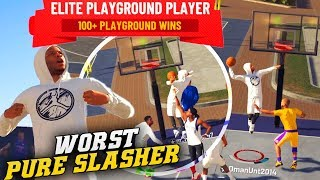 NBA 2K19 Park: The Weakest Pure Slasher - Missing Dunks In A Close Game! Road To 99 Overall