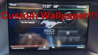 2015 Mustang - Custom Wallpaper MyFord Touch System