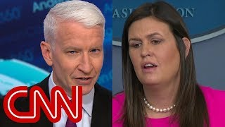 Anderson Cooper calls out Sarah Sanders