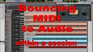 Bouncing MIDI to Audio - Tutorial