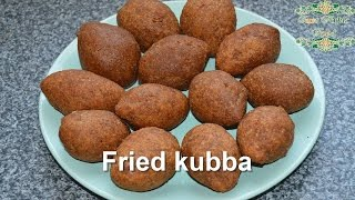 fried kubba - Syrian recipe - just Arabic food