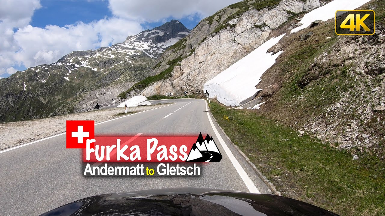 Driving from Andermatt to Gletsch via Furka Pass – Scenic Drive Switzerland!