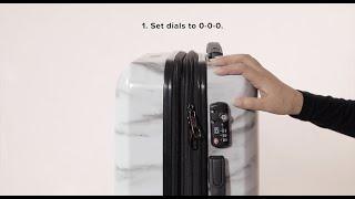 CALPAK TSA Combination Key Lock Instructions