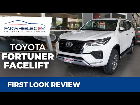 2021 Toyota Fortuner V Facelift Petrol | First Look Review | PakWheels