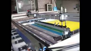 preview picture of video 'Four Column Large Size Flat Screen Printing Machine(1200x2400mm)'