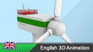 Wind Turbines / Wind Power - How it works! (3D animation)