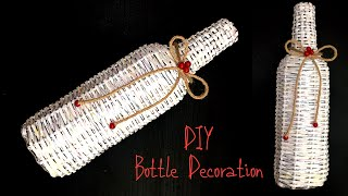 DIY:Bottle Craft /Newspaper Craft Ideas /Glass Bottle Decoration Ideas /Earn Money From Bottle Craft