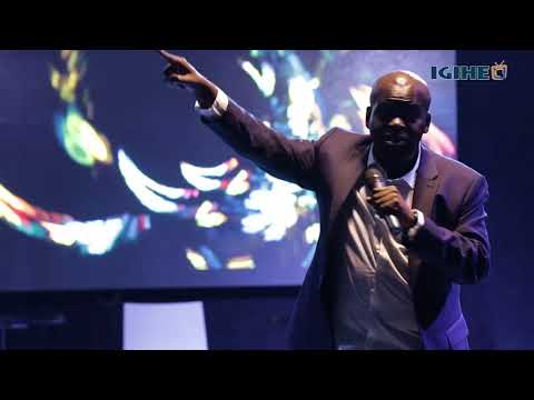 Daliso Chaponda performing at the 2nd Kigali International Comedy Festival