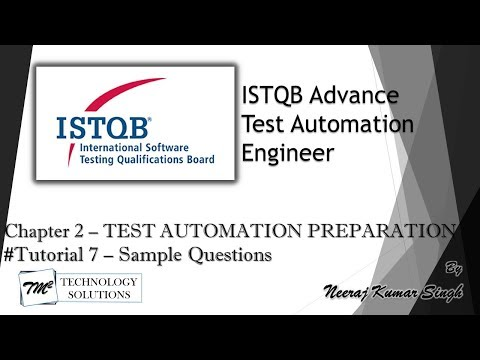 ISTQB Test Automation Engineer | Sample Questions on Chapter 2 ...