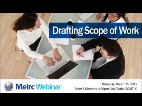 Drafting scope of work   Contracts Management   Dubai   Meirc ...