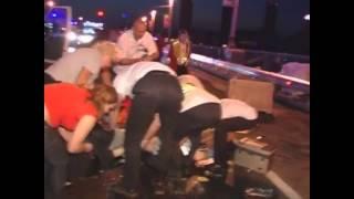 ДТП на мосту Патона: Милиционер сбил врача, который пытался помочь пострадавшему