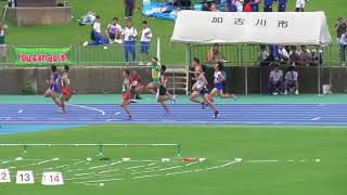 2018年度全中通信陸上兵庫県大会3年男子100m準決勝まとめ