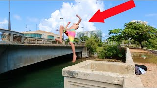BRIDGE JUMPING FLIPS IN PUERTO RICO!