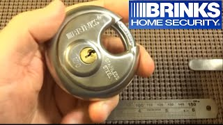 (80) Brinks R70 Maximum Security Disc Padlock Picked Open