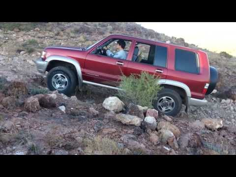 Mean Isuzu Trooper Climbs Old Volcanic Plug