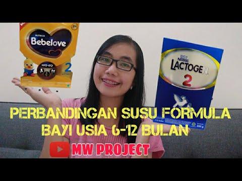 PERBANDINGAN SUSU FORMULA BAYI USIA 6-12 BULAN | LACTOGEN & BEBELOVE