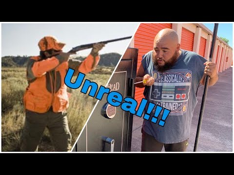What Was In The Safe! The Hunter Left What! I bought an abandoned storage locker