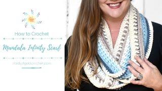 Mandala Infinity Scarf | Full Pattern Tutorial | Crochet Along | CAL