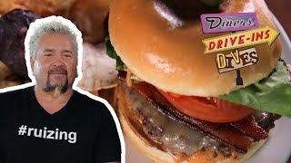 Guy Fieri Tries A PEANUT BUTTER Burger | Diners, Drive-ins And Dives