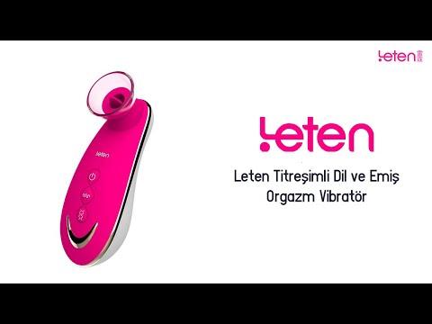 Leten Titreşimli Dil ve Emiş Orgazm Vibratör