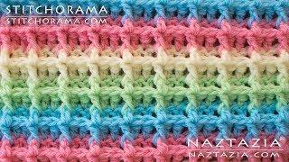 DIY Tutorial - How To Crochet Waffle Stitch - Stitchorama By Naztazia
