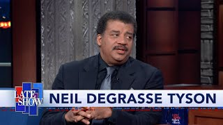 "America's favorite astrophysicist predicts what might happen if (or when) the people of Earth confirm the existence of life beyond this planet. #Colbert #NeildeGrasseTyson #Interviews  Subscribe To ""The Late Show"" Channel HERE: http://bit.ly/ColbertYouTube For more content from ""The Late Show with Stephen Colbert"", click HERE: http://bit.ly/1AKISnR Watch full episodes of ""The Late Show"" HERE: http://bit.ly/1Puei40 Like ""The Late Show"" on Facebook HERE: http://on.fb.me/1df139Y Follow ""The Late Show"" on Twitter HERE: http://bit.ly/1dMzZzG Follow ""The Late Show"" on Google+ HERE: http://bit.ly/1JlGgzw Follow ""The Late Show"" on Instagram HERE: http://bit.ly/29wfREj Follow ""The Late Show"" on Tumblr HERE: http://bit.ly/29DVvtR  Watch The Late Show with Stephen Colbert weeknights at 11:35 PM ET/10:35 PM CT. Only on CBS.  Get the CBS app for iPhone & iPad! Click HERE: http://bit.ly/12rLxge  Get new episodes of shows you love across devices the next day, stream live TV, and watch full seasons of CBS fan favorites anytime, anywhere with CBS All Access. Try it free! http://bit.ly/1OQA29B  --- The Late Show with Stephen Colbert is the premier late night talk show on CBS, airing at 11:35pm EST, streaming online via CBS All Access, and delivered to the International Space Station on a USB drive taped to a weather balloon. Every night, viewers can expect: Comedy, humor, funny moments, witty interviews, celebrities, famous people, movie stars, bits, humorous celebrities doing bits, funny celebs, big group photos of every star from Hollywood, even the reclusive ones, plus also jokes."