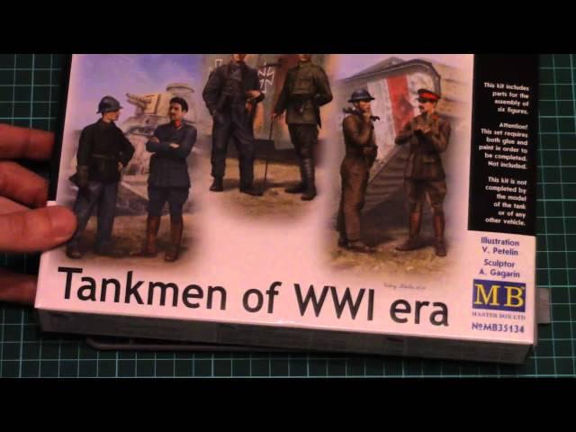 6 Figures Master Box MB 1//35 35134 Tankmen of WWI Era