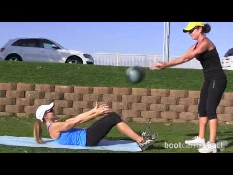 Video Ab Exercise With a Medicine Ball